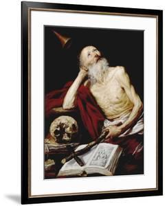 Saint Jerome, 1643, Spanish School by Antonio De pereda