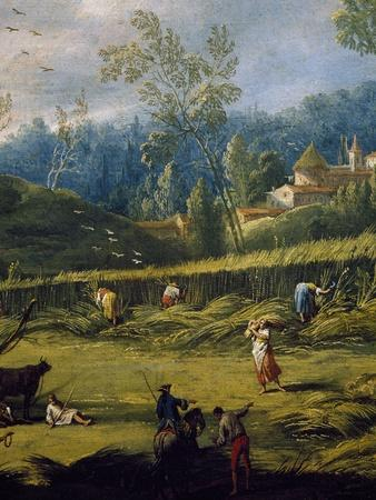 The Harvesting, Detail from the Summer