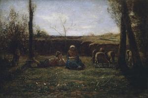Idyll, 1865 by Antonio Fontanesi