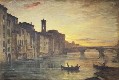 The Arno River and the Holy Trinity Bridge in Florence