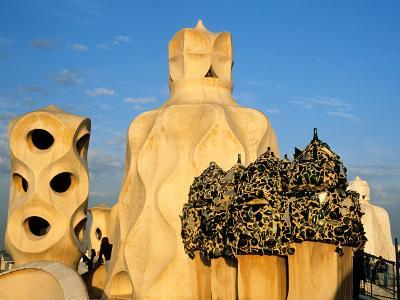 Antonio Gaudi's La Pedrera, Casa Mila, Barcelona, Spain-David Barnes-Photographic Print