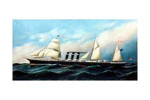 British Steamship City of New York by Antonio Jacobsen