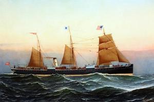 Danish Stamship Hekla by Antonio Jacobsen