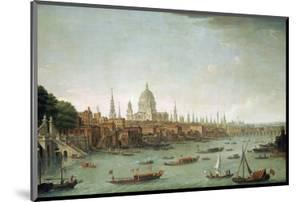 A Panoramic View of the City of London from the Thames Near the Water Gate of Somerset House by Antonio Joli