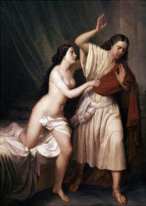 Joseph and Potiphars Wife, 1854 by Antonio Maria Esquivel