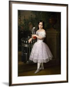 Rafaela Flores Calderón As a Girl, Middle 19th Century, Spanish School by Antonio Maria Esquivel