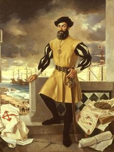 Ferdinand Magellan, Portuguese Navigator who Circumnavigated the Globe by Antonio Menendez