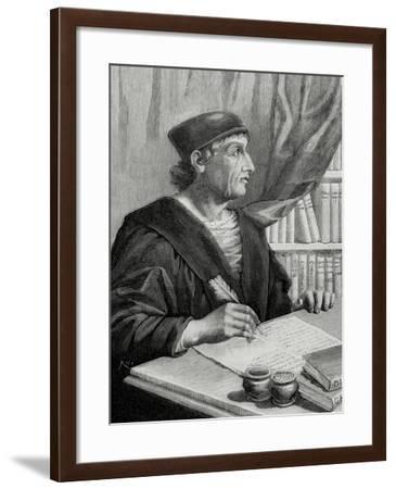 Antonio Nebrija (1441-1522). Spanish Scholar, Historian, Teacher and Poet.--Framed Giclee Print