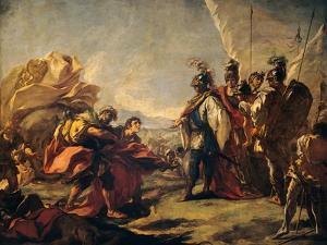 Corpse of Darius Is Shown to Alexander by Antonio Pellegrini