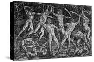 The Battle of the Naked Men, Around 1470 by Antonio Pollaiolo
