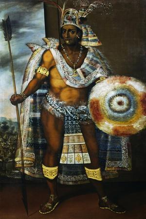 Portrait of Montezuma II Tecnochtitlan (Circa 1466-1520), Last King of Aztecs, 1680-1697