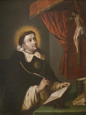 St. Thomas Aquinas Writing before the Crucifix