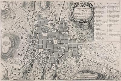 Map of San Francisco de Quito, 18th Century