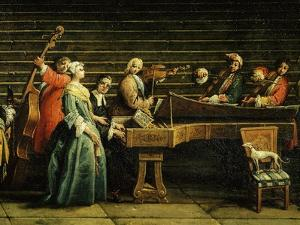 Concert at the Villa (Detail) by Antonio Visentini