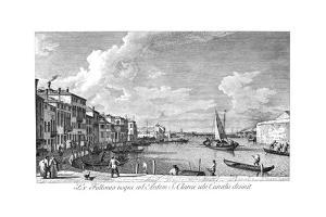 Venice: Chiara Canal, 1735 by Antonio Visentini