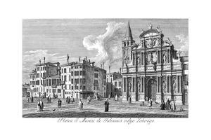 Venice: Church, 1735 by Antonio Visentini