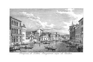 Venice: Grand Canal, 1735 by Antonio Visentini