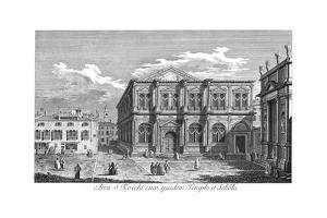Venice: San Rocco, 1735 by Antonio Visentini