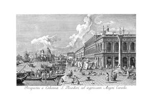 Venice: The Molo, 1735 by Antonio Visentini