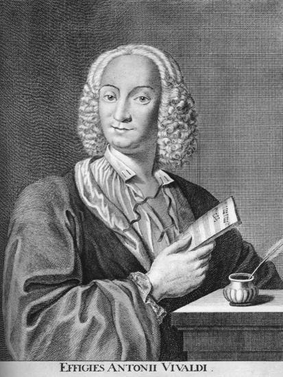 Antonio Vivaldi, Italian Baroque Composer, Catholic Priest, and Virtuoso Violinist, 1725-Peter La Cave-Giclee Print