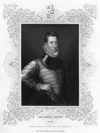 Philip Sidney, 16th Century English Soldier, Statesman, Poet, and Patron of Poets, C1840