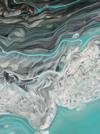 Green Marble Mint Wave Texture, Painted Background