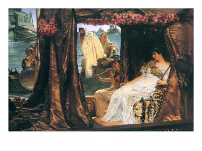 Antony and Cleopatra-Sir Lawrence Alma-Tadema-Art Print