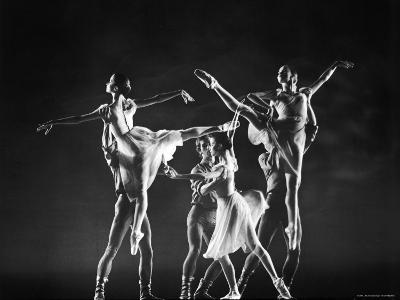 Antony Blum and Kay Mazzo in New York City Ballet Production of Dances at a Gathering-Gjon Mili-Premium Photographic Print