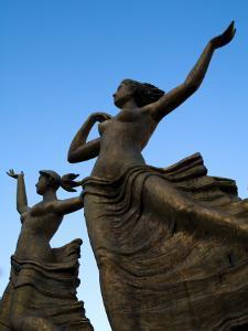 Statue of Women Outside Hiroshima Train Station by Antony Giblin