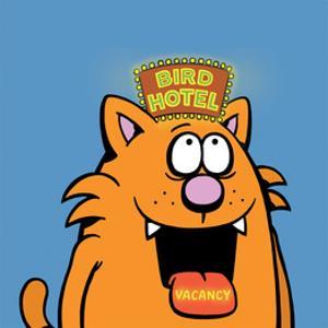 Bird Hotel - Antony Smith Learn To Speak Cat Cartoon Print by Antony Smith