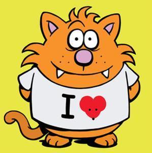 I Heart Mice - Antony Smith Learn To Speak Cat Cartoon Print by Antony Smith