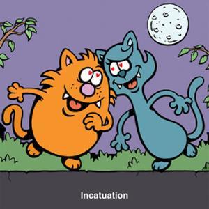 Incatuation - Antony Smith Learn To Speak Cat Cartoon Print by Antony Smith