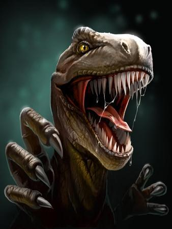Dinosaur with Teeth and Claws, Close-Up