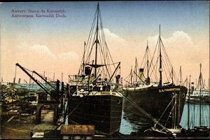 Antwerpen, Bassin Du Kattendyk, Dock, Hafen, Dampfer