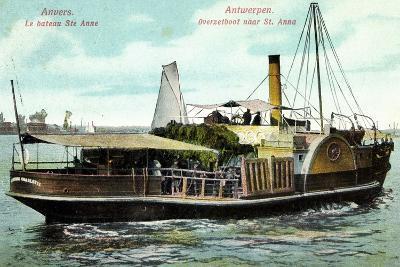Antwerpen, Le Bateau Ste Anne, Fährschiff Charlotte--Giclee Print