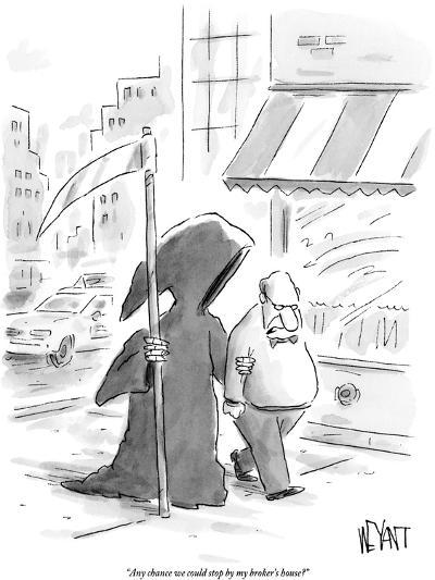 """Any chance we could stop by my broker's house?"" - New Yorker Cartoon-Christopher Weyant-Premium Giclee Print"