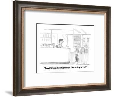 """Anything on romance at the entry level?"" - Cartoon-Bernard Schoenbaum-Framed Premium Giclee Print"
