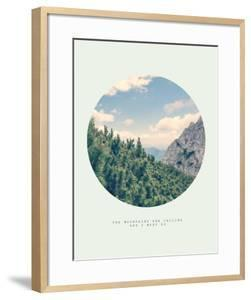 Inspirational Circle Design: The Mountains are Calling and I Must Go by Anze Bizjan