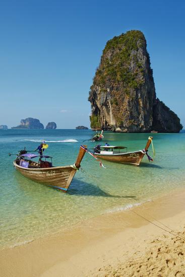 Ao Phra Nang Bay, Railay Beach, Hat Tham Phra Nang Beach, Krabi Province, Thailand--Photographic Print