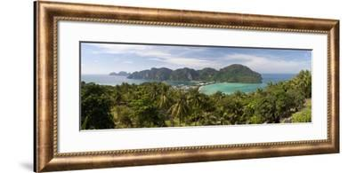 Ao Ton Sai and Ao Dalam Bays from Viewpoint-Stuart Black-Framed Photographic Print