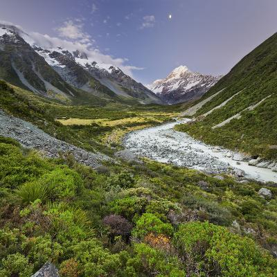 Aoraki, Hooker River, Mount Cook National Park, Canterbury, South Island, New Zealand-Rainer Mirau-Photographic Print