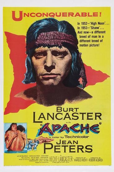 Apache, Burt Lancaster, 1954--Art Print