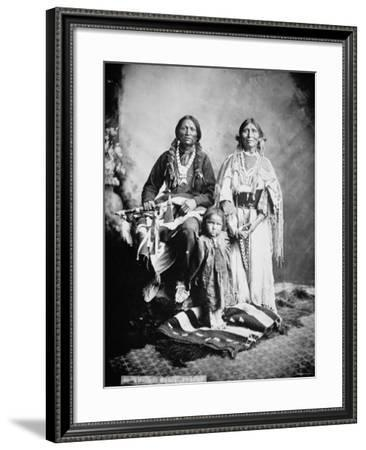 Apache Chief Antonio Maria with His Family, 1897--Framed Photographic Print
