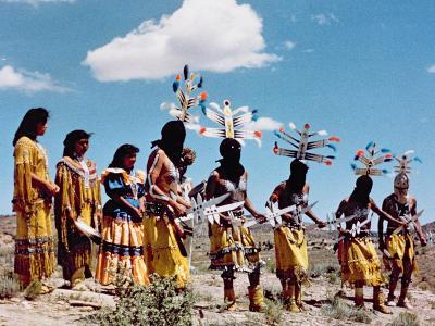 Apache Gahe Dancers--Photographic Print