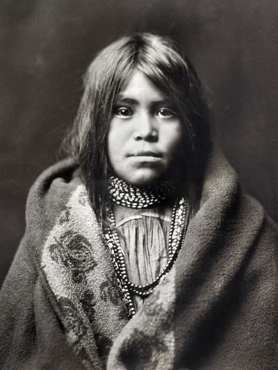 Apache Girl, C1903-Edward S^ Curtis-Photographic Print