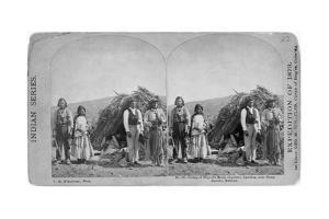Apache Indians in Front of Wickiup