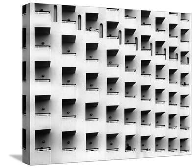 Apartment Balconies-Ayoze Hernandez Tirado-Stretched Canvas Print