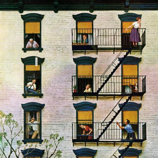 """Apartment Finding App: """"Apartment Clarinetist"""", April 19, 1958 Giclee Print By"""