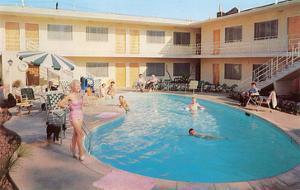 Apartment Complex Pool, Retro