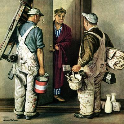 """Apartment Painters,"" May 1, 1948-Stevan Dohanos-Giclee Print"